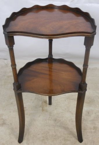 Mahogany Two Tier Bow Front Stand